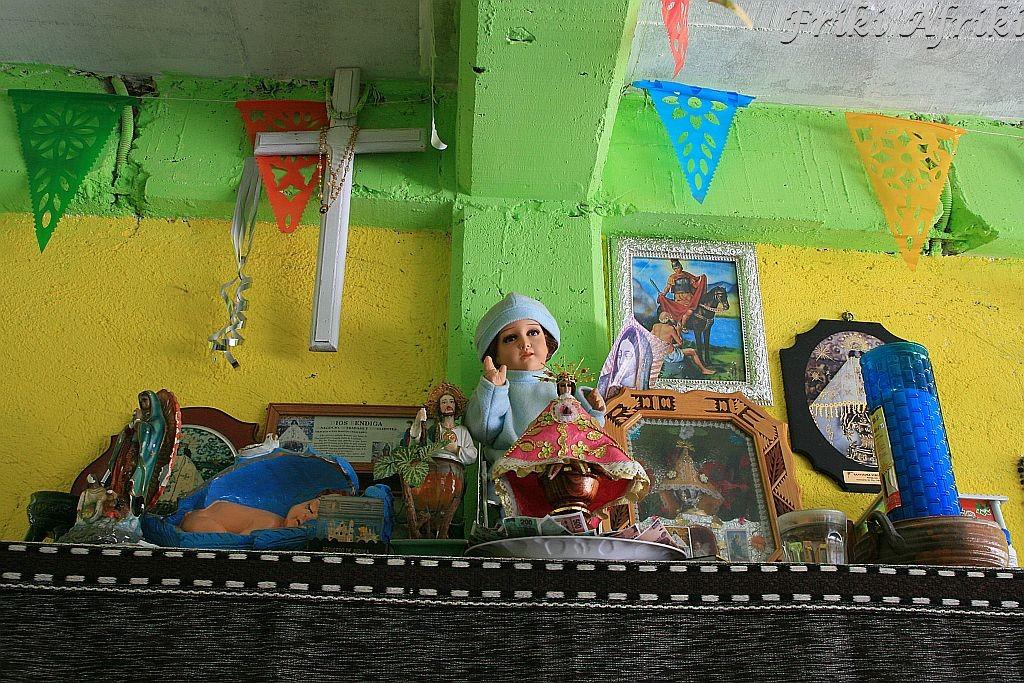 Mitla, ołtarzyk w restauracji