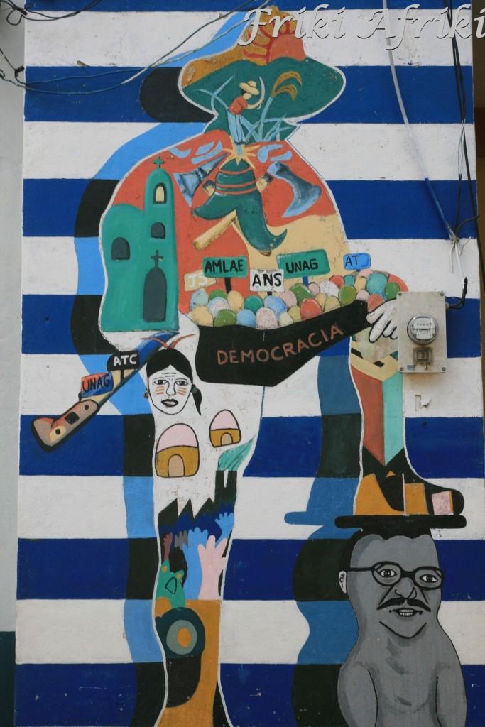 Murale na ulicach Leon